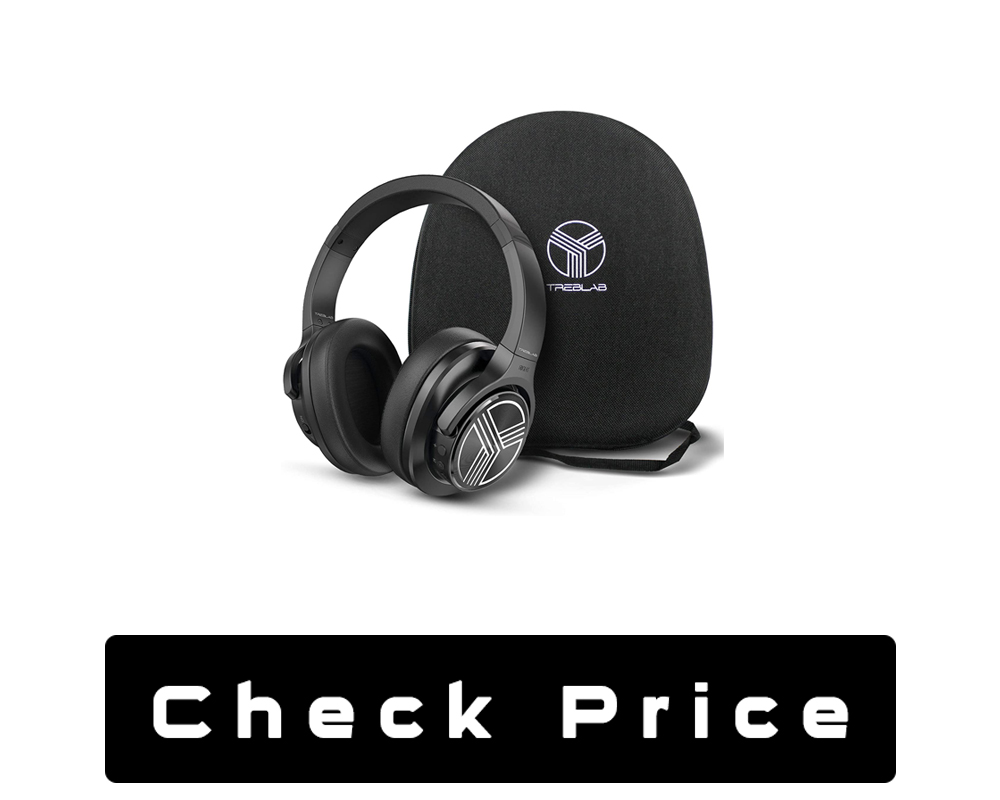 TREBLAB Z2 Over-Ear Workout Headphones with Microphone